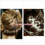 Valentino runway milkmaid braid