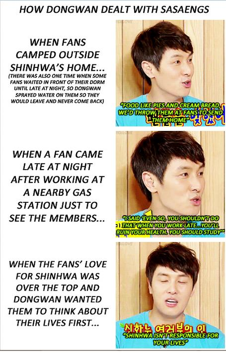 "Shinhwa isn't responsible for your lives""…is NOT for sasaeng"